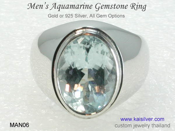 men's aquamrine ring man06