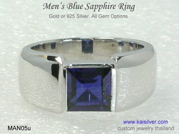 white gold band ring for men