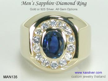 Kaisilver Rings For Men Superior Workmanship And Sturdy
