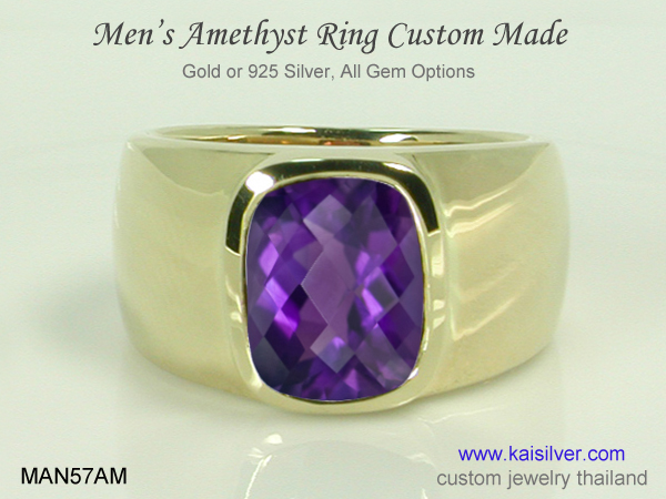 gemstone band ring