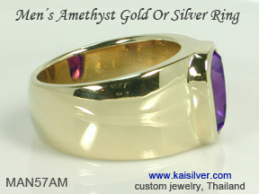 ring for men with amethst