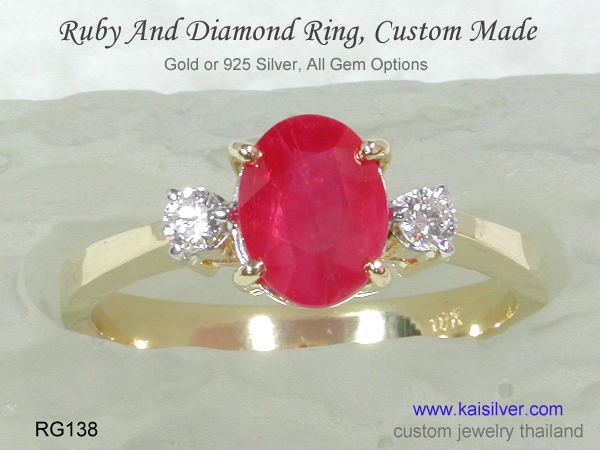 gold rings 10k 14k 18k with ruby